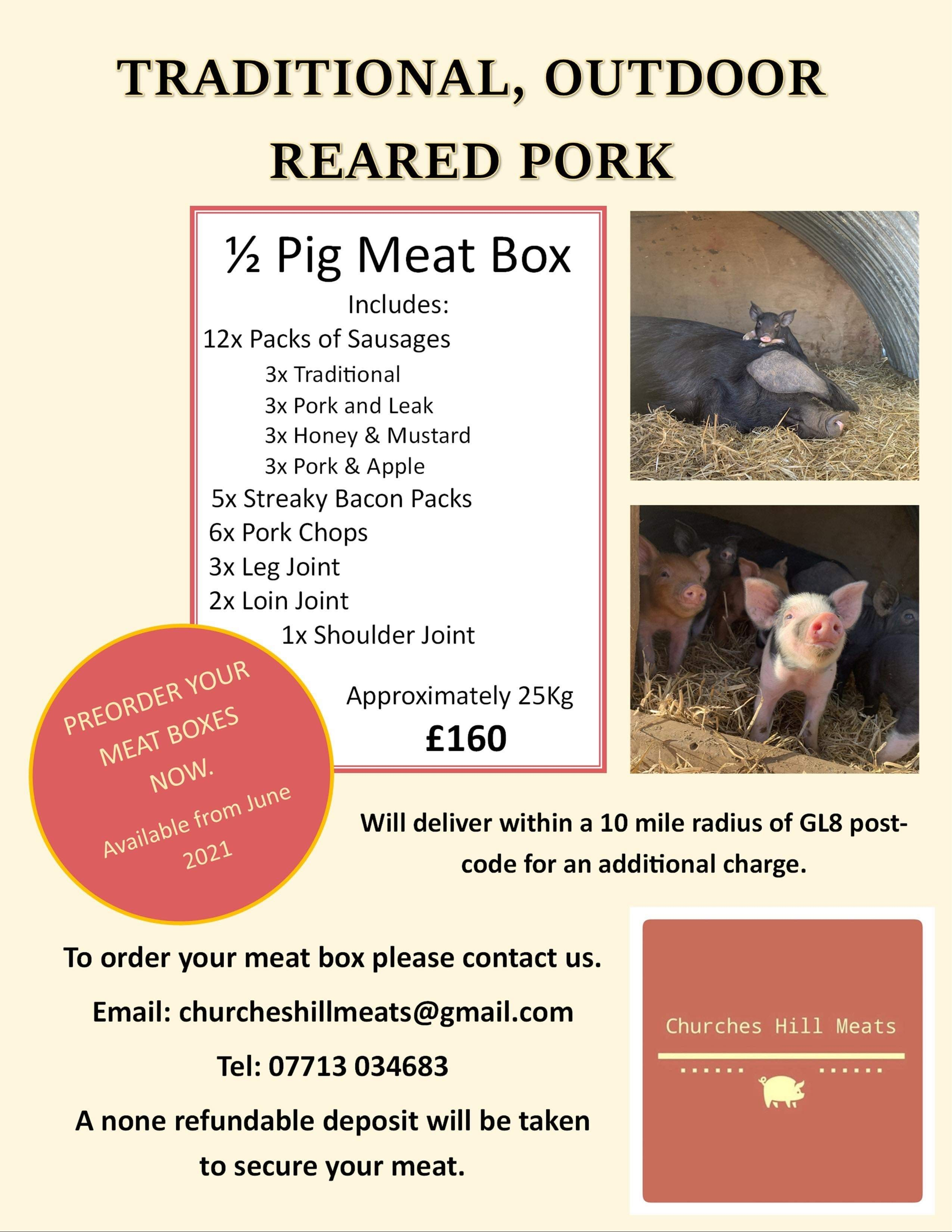 Traditional, Outdoor Reared Pork